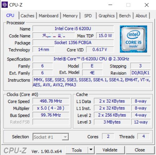 check ram laptop bằng phần mềm CPU-Z