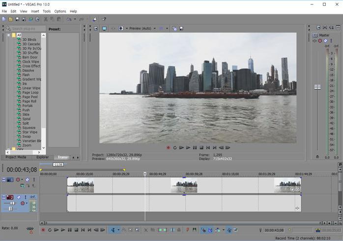 Chương trình cắt video - Vegas Pro (Sony Vegas)