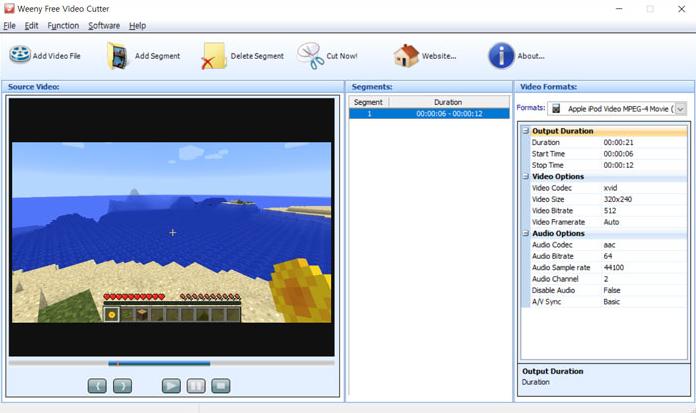 Phần mềm cắt video trên máy tính miễn phí - Weeny