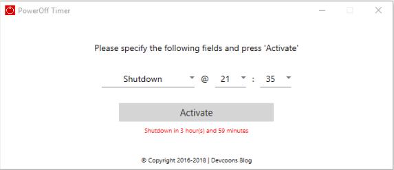 phần mềm hẹn giờ tắt máy win 10
