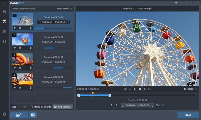 Phần mềm cắt video trên máy tính - Bandicut