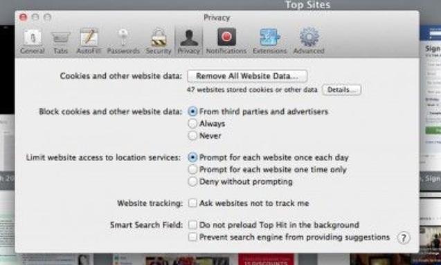 Cách xóa lịch sử trên máy tính - trong Safari