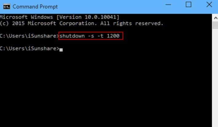 Hẹn giờ tắt máy tính bằng Command Prompt.