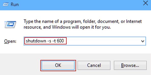 Hẹn giờ tắt máy tính trong windows 10 bằng lệnh - Run