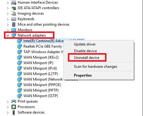 máy tính không nhận wifi win 10
