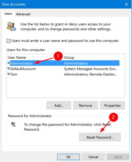 đổi mật khẩu máy tính win 10