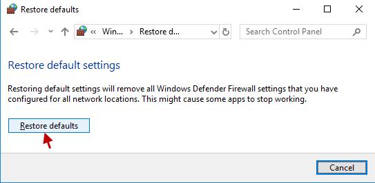 lỗi Defender Firewall