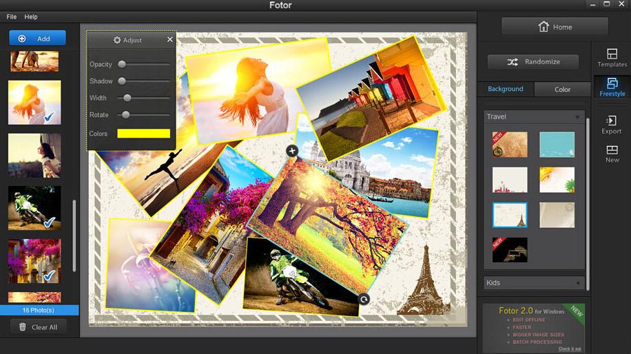 phần mềm chỉnh sửa và ghép ảnh